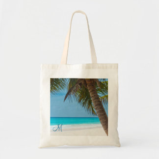 Personalized Monogrammed Beach Bags Palm Trees