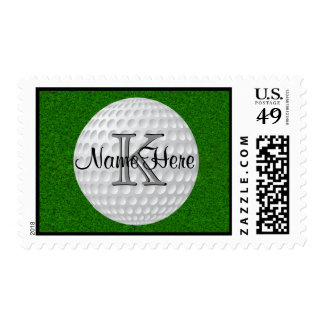 Personalized Monogrammed Golf Postage Stamps