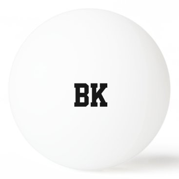 logotees Personalized monogrammed initial ping pong balls