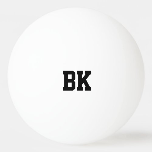 Personalized monogrammed initial ping pong balls