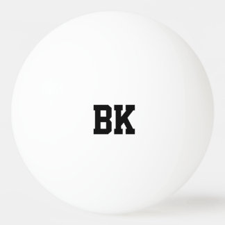 Personalized monogrammed initial ping pong balls ping pong ball