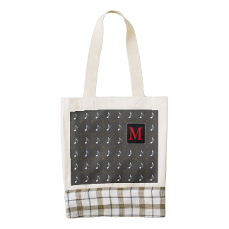 personalized/ monogrammed music zazzle HEART tote bag