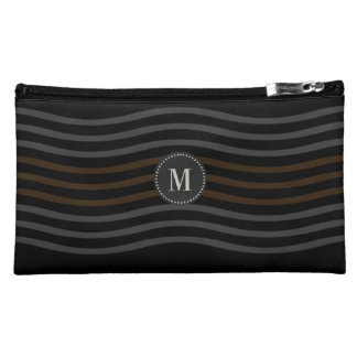 Personalized Monogrammed Wave Pattern Bag
