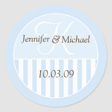Personalized Monogrammed Wedding Favor Labels Sticker