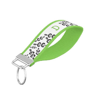 Personalized Monograms Cross Country Running Wrist Keychain