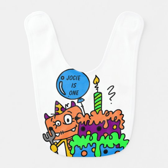 Personalized Monster 1st Birthday Bib