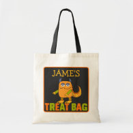 Personalized Monster Halloween Treat Bag