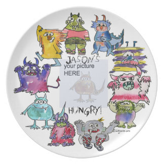 Personalized Monsters Your Picture Here Plate