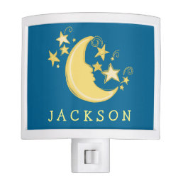 Personalized Moon and Stars Night Light