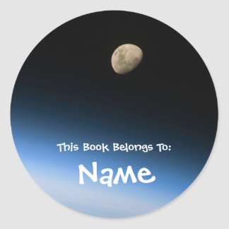 Personalized Moon Book Label