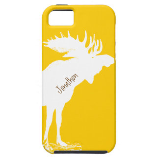 Personalized Moose Yellow Changes to Any Color iPhone 5 Case