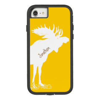 Personalized Moose Yellow Changes to Any Color Case-Mate Tough Extreme iPhone 7 Case