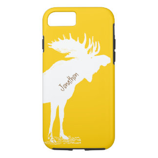 Personalized Moose Yellow Changes to Any Color iPhone 7 Case
