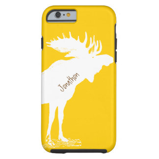 Personalized Moose Yellow Changes to Any Color Tough iPhone 6 Case