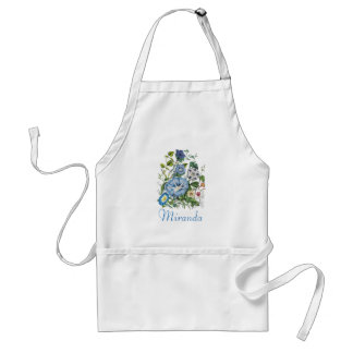 Personalized Morning Glories Apron