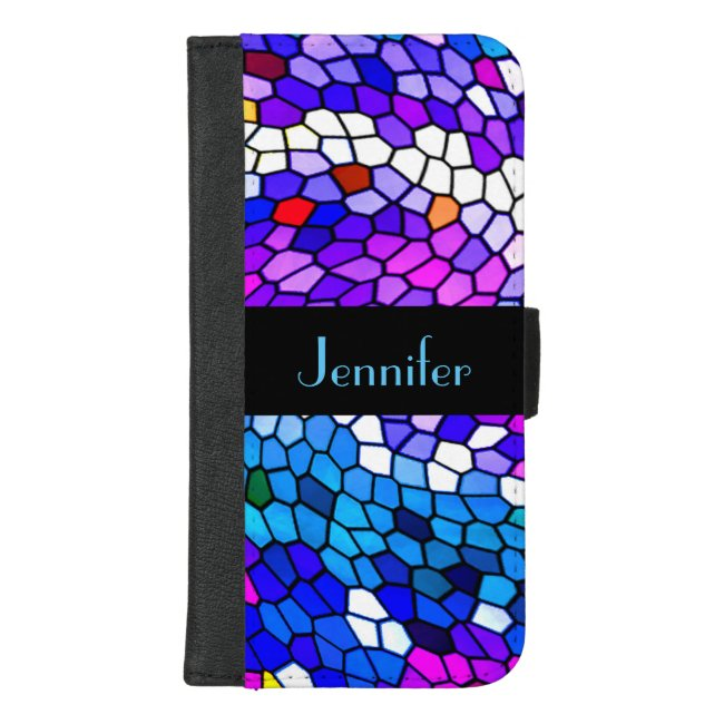 Personalized Mosaic iPhone 8/7 Plus Wallet Case