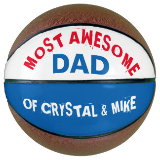 Personalized Most Awesome Dad Parent Cool Basketball