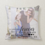 """Personalized Mother Daughter Photo Quote Pillow<br><div class=""""desc"""">Every mother loves to reminisce about special moments spent with her daughter. This design can also be customized with your name and wedding or birth date.</div>"""