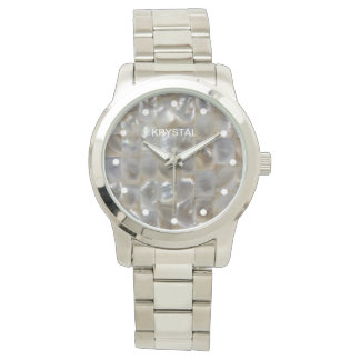 Personalized Mother of Pearl Mosaic Watch