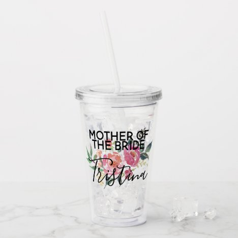Personalized Mother of the Bride Acrylic Tumbler