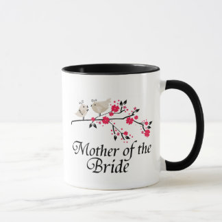 Personalized mother of the bride birds wedding mug