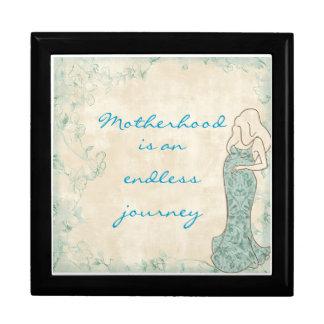 Personalized motherhood box jewelry box