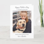 Personalized Mother's Day Dog Mom Pet Photo Holiday Card