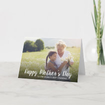 Personalized Mother's Day Photo Card for Grandma