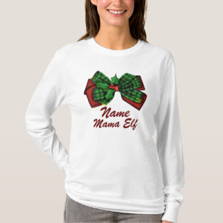 Personalized Mother's Name Christmas Elf T-Shirt
