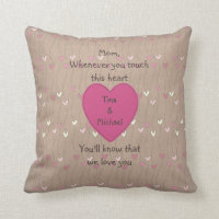 Personalized Mother's Touch Pillows