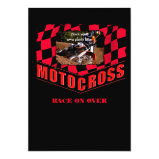 Personalized Motocross Card