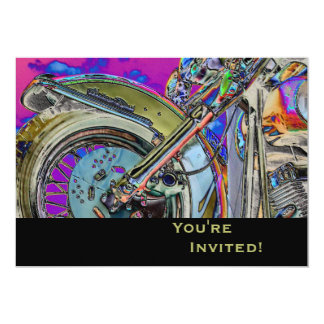 Personalized Motorcycle 40th Birthday Party Card