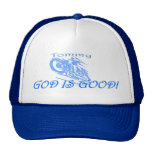 PERSONALIZED MOTORCYCLE RIDER CAP MESH HATS