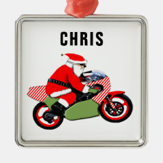 Personalized Motorcyclist Collectible Metal Ornament at Zazzle