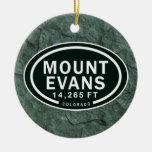 Personalized Mount Evans Colorado Rocky Mountain Ceramic Ornament