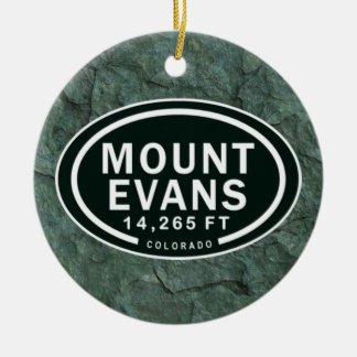 Personalized Mount Evans Colorado Rocky Mountain Ceramic Ornament