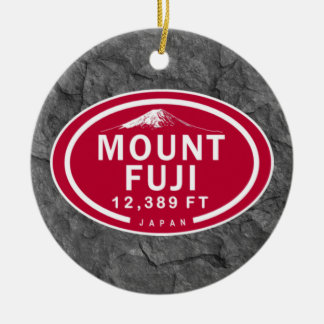 Personalized Mount Fuji Japan Mountain Ornament