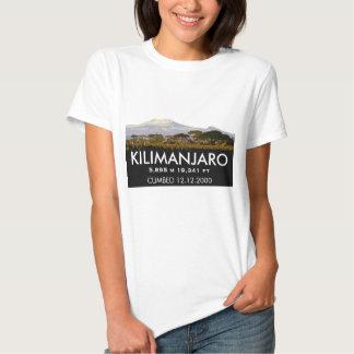 Personalized Mount Kilimanjaro Climb Commemorative Tee Shirt