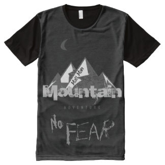 Personalized Mountain Adventure No Fear All-Over Print T-shirt