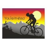 Personalized Mountain Bike Biker Birthday 5x7 Paper Invitation Card