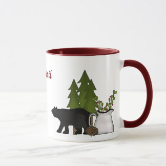 Personalized Mountain Moose and Bear Mug