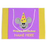 Personalized Mouse Happy Birthday Gift Bag
