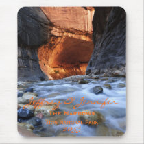 Personalized, Mouse Pad, Zion Narrows, Vertical Mouse Pad