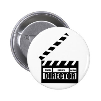 Personalized Movie Director Clapboard Gift Pinback Button
