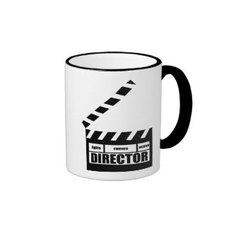 Personalized Movie Director Clapboard Gift Ringer Mug