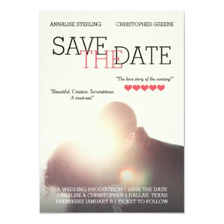 Personalized Movie Poster Save the Date Card