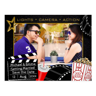 Personalized Movie Star Save the Date Postcard