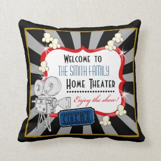 Personalized movie theater cinema pillow