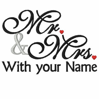Personalized Mr. and Mrs. Husband Wife His Hers Embroidered Polo Shirt
