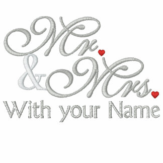 Personalized Mr. and Mrs. Husband Wife His Hers Polo Shirt